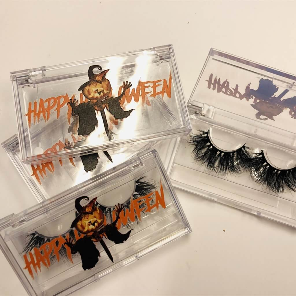 Plastic mink lashes packaging